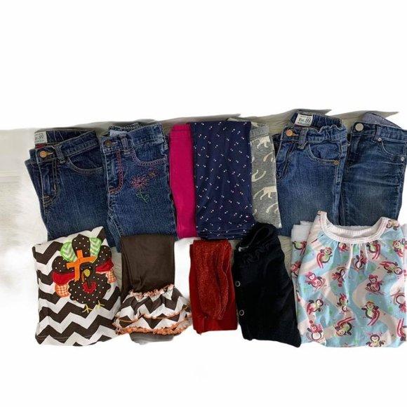 12 pc Girls Sz 3T  Bundle Inc Thanksgiving Outfit